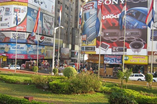 compras no paraguaí, entrada da ciudad del este