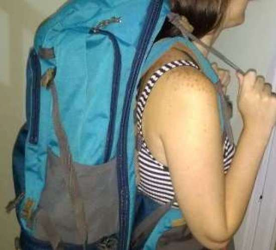 Fita nos ombros do mochilão ajustes