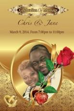 Chris & Jane Wedding Invitation Card
