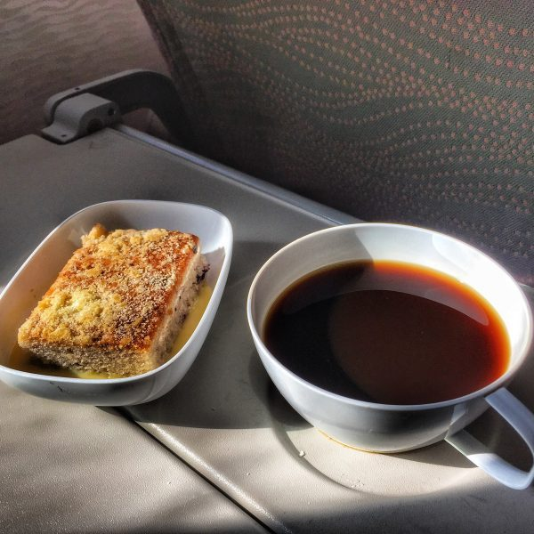coffee break on the emirates plane