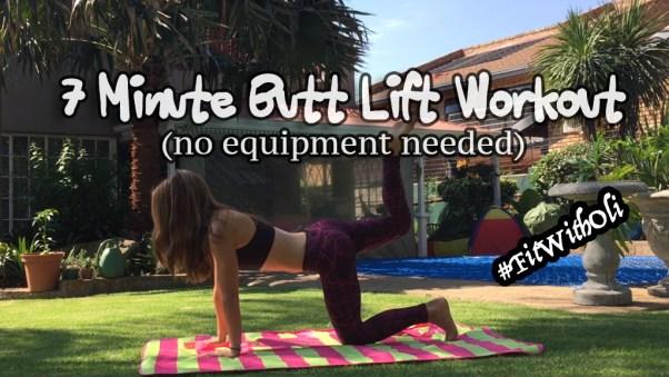 7 minute Butt Lift Workout, butt lift, quick workout, home workout, best butt exercises, best glute workout for women, bigger butt workout,