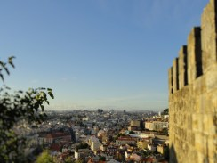 the view of Lisbon from St. George's castle