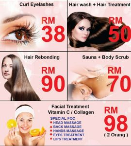 Nia Beauty Spa Senawang Promo