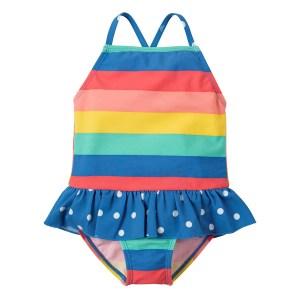 UV50 zwempak met regenboogstrepen