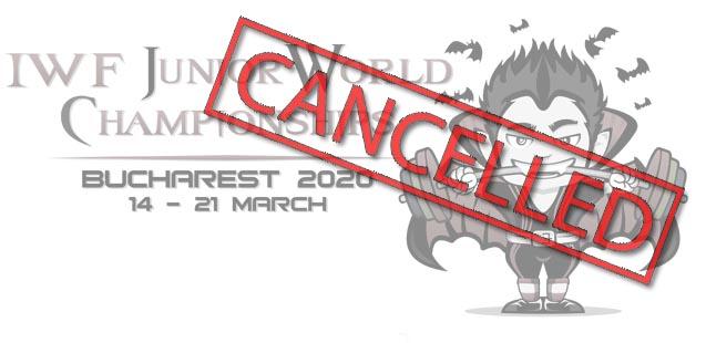JWC cancelled  - Mondialele de haltere de la București s-au anulat