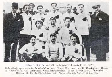 olympia - Istorie! Olimpia București prima echipă de fotbal din România