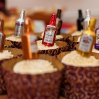 New Years Eve Cupcakes With Champagne Cream And Alcohol Filled Chocolate