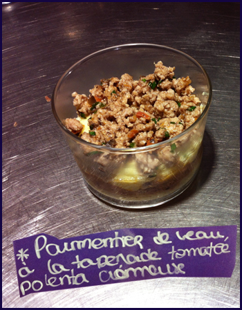 [Recette bébé] Parmentier de veau à la tapenade tomatée, polenta crémeuse