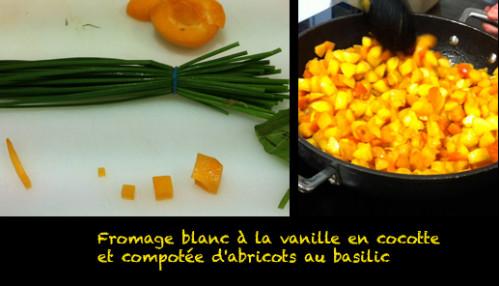 [Recette bébé] Fromage blanc à la vanille en cocotte et compotée d'abricots au basilic