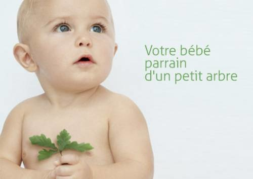 Un bébé, un arbre avec Guigoz