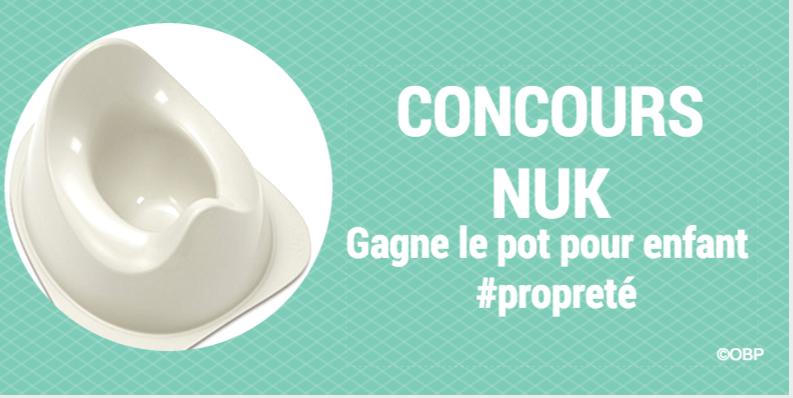 Gagne le pot pour enfant NUK #propreté (concours terminé)