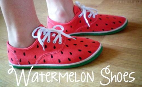 Chaussures Pastèque DIY