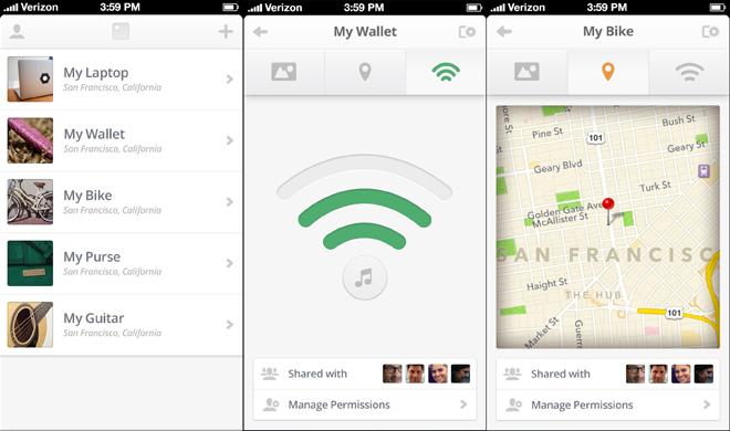 compte tile app objets connectes