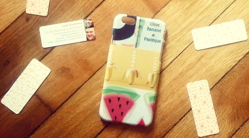 Ma coque de téléphone Olive, Banane et Pastèque
