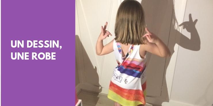Un dessin, une robe, une fillette ravie !
