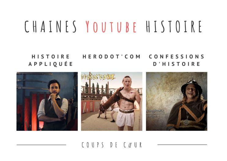 3 Chaines Youtube sur l'Histoire