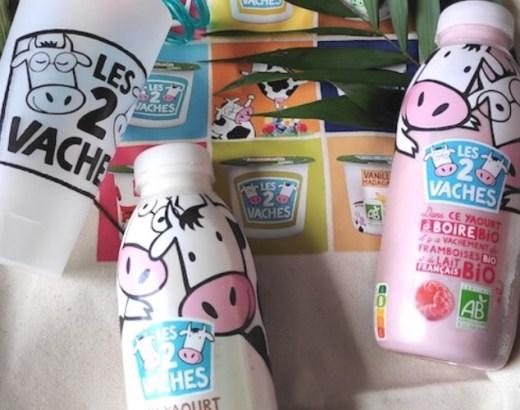 Les yaourts bio à boire les 2 vaches