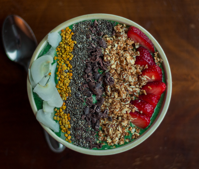 Loaded Spirulina Smoothie Bowl