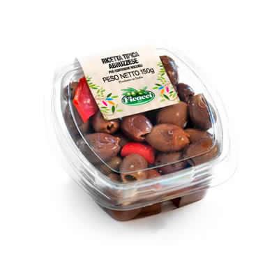 Ricetta tipica regionale abruzzese olive leccino denocciolate 150g
