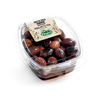 Ricetta tipica regionale genovese olive leccino intere 150g