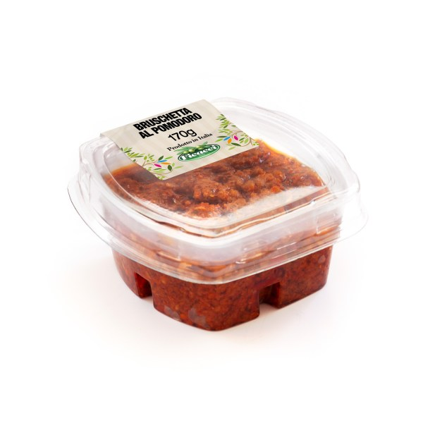 bruschetta al pomodoro di pomodori secchi e capperi