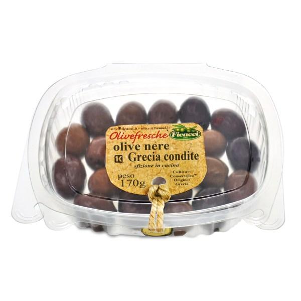 olive nere greche condite 170g