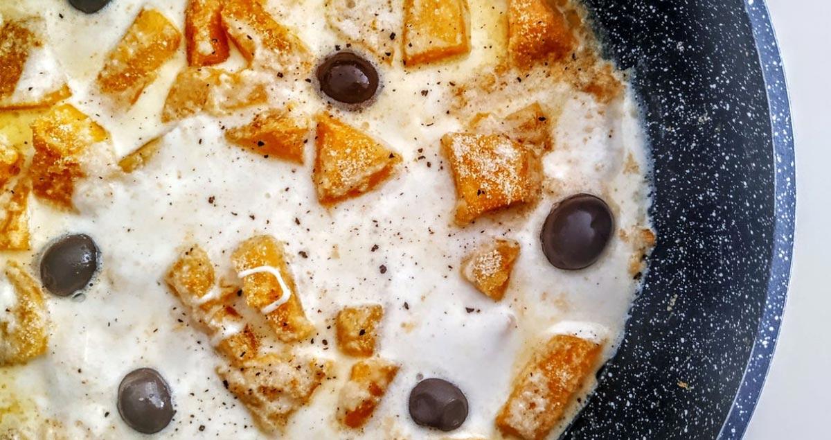 Zucca-mozzarella-olive-nere-itrana