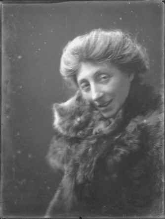 With Kisse the cat, 1919
