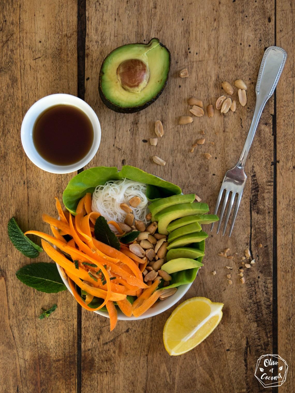 Salade Rouleaux Printemps Vegan Sans Gluten