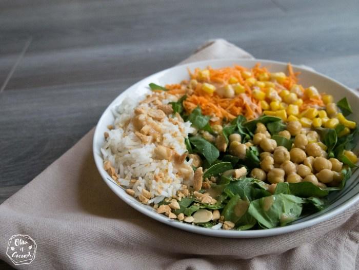 Salade cacahuètes vegan et sans gluten