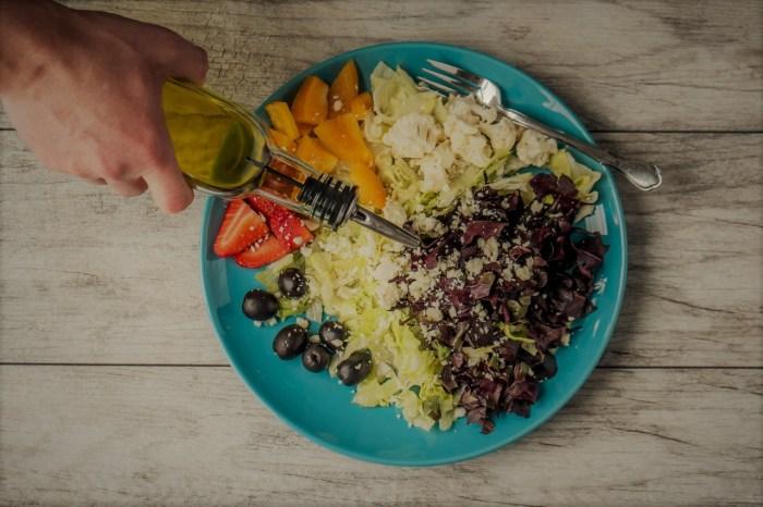 huile d'olive et salade
