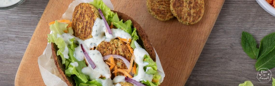 Sandwich Falafels Vegan Sans Gluten