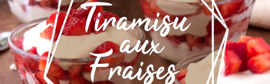 Tiramisu Vegan Sans Gluten Fraises