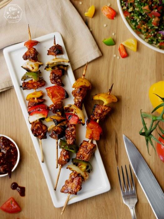 Barbecue Vegan Sans Gluten Brochettes