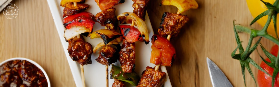 Barbecue Vegan Sans Gluten Brochettes