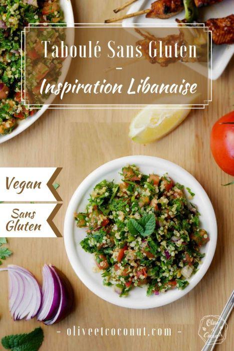Taboulé Sans Gluten Vegan Libanais Pinterest