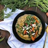 Spring Vegetable and Chicken Coconut Curry Bowls