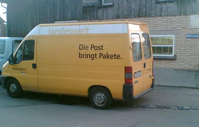 Die Post gringt Pakete