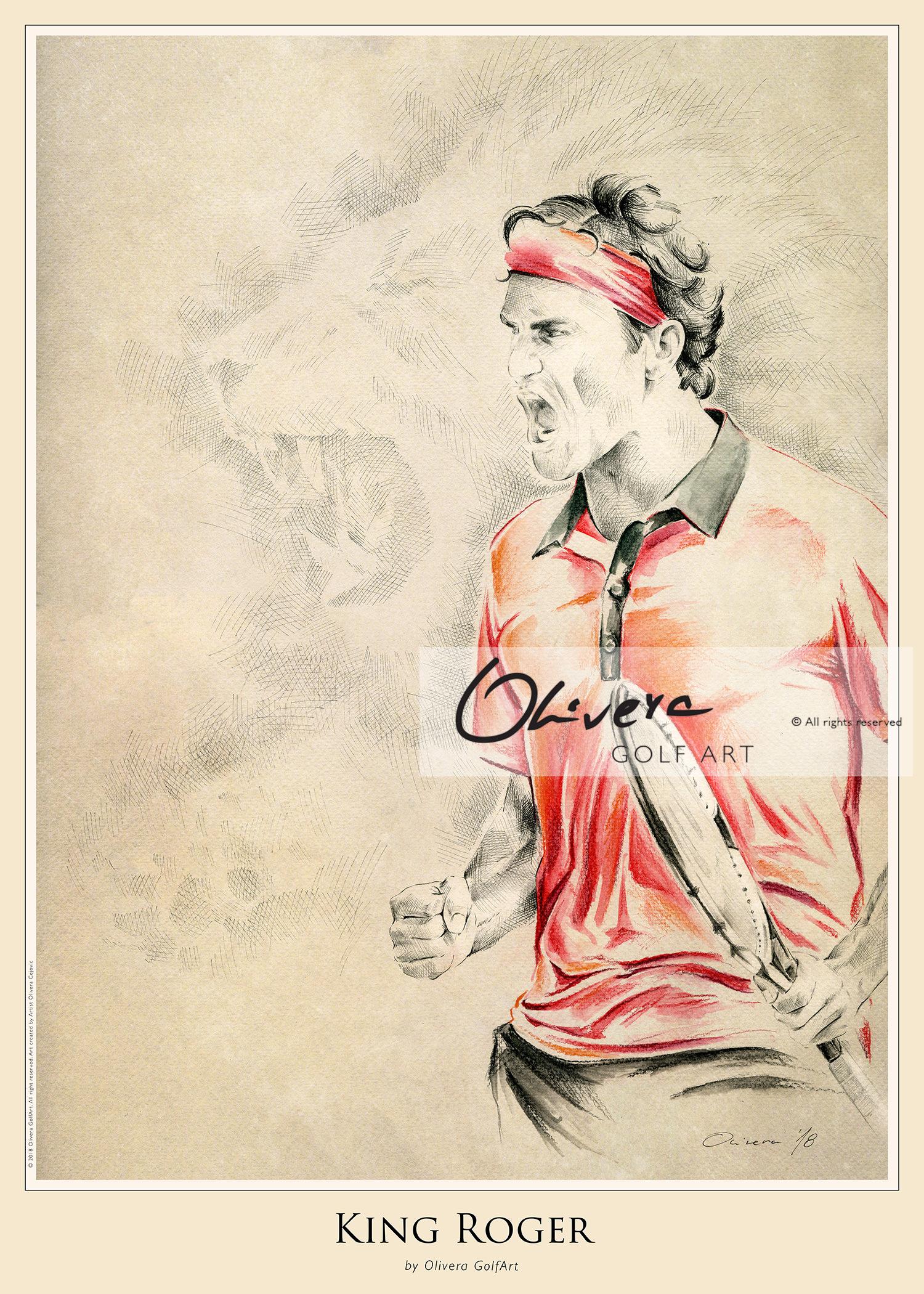 king roger poster olivera golfart