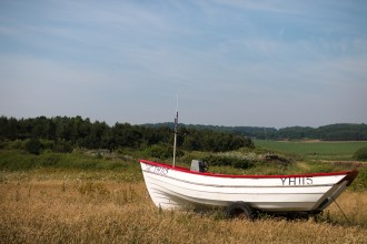 One of the boats on Weybourne beach, this one had been parked up a lot further from the sea than the others.