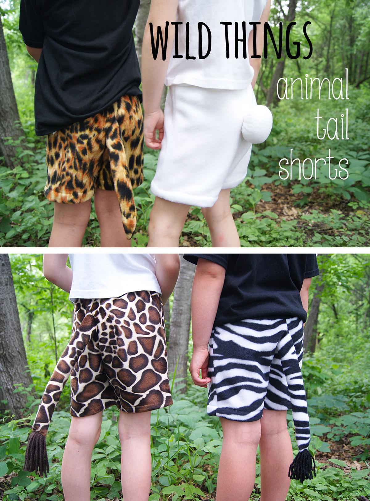 Customizing The Sunny Day Shorts Animal Tails
