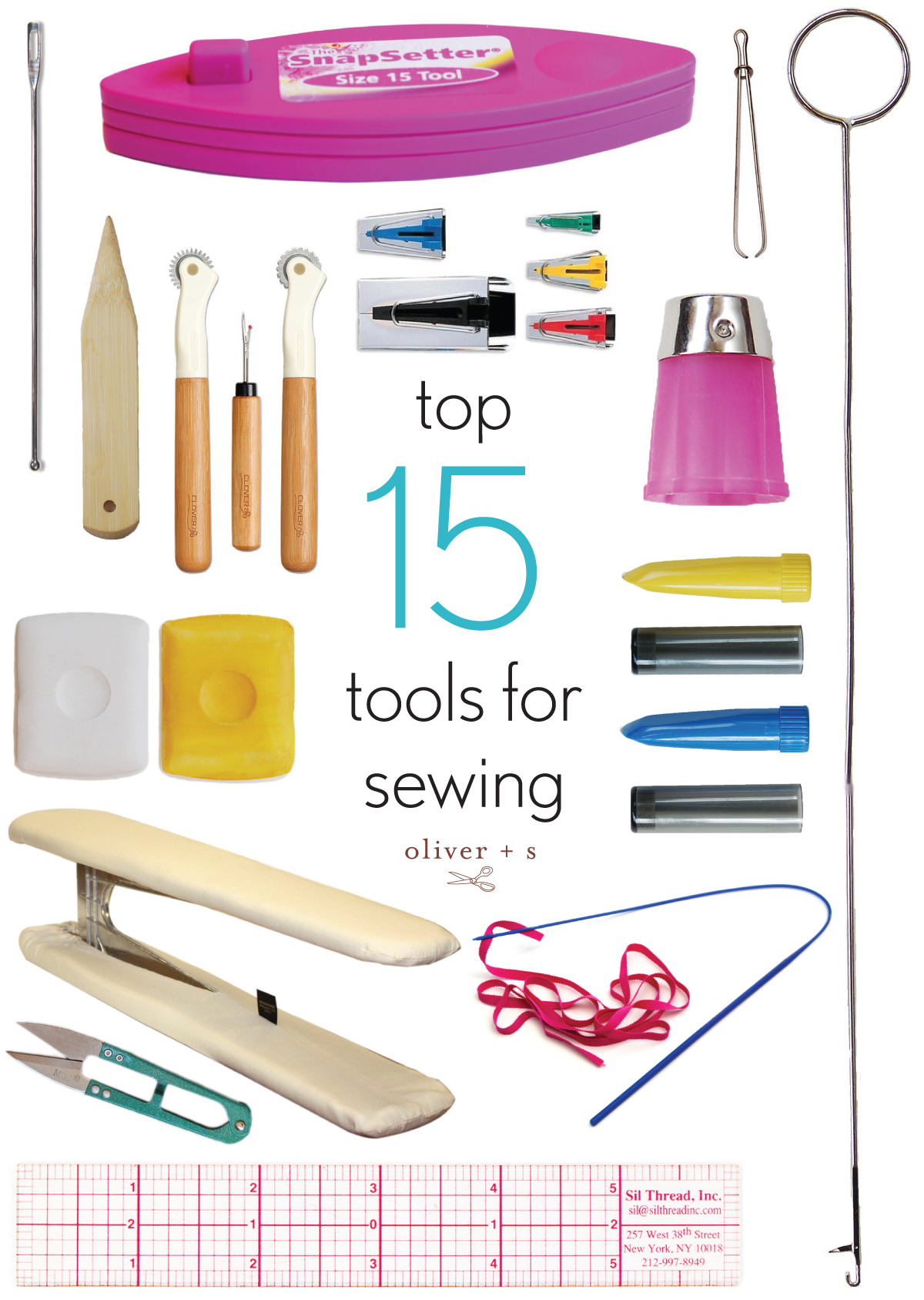 Top Fifteen Tools For Sewing