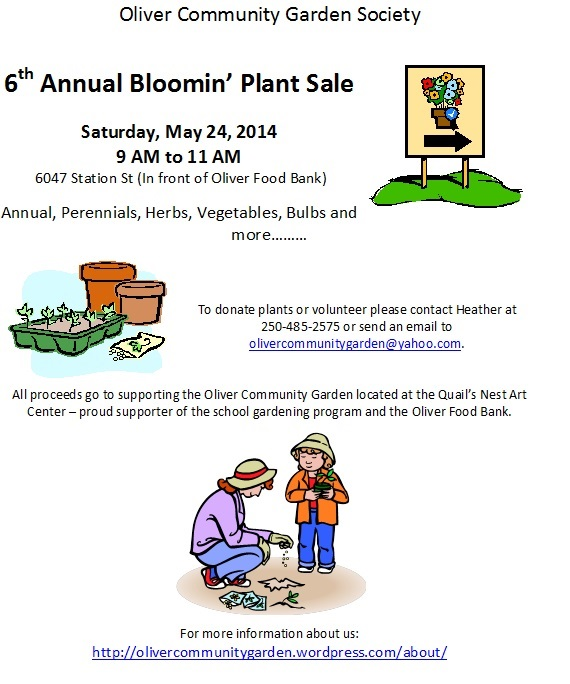 Bloomin Plant Sale 2014.Poster