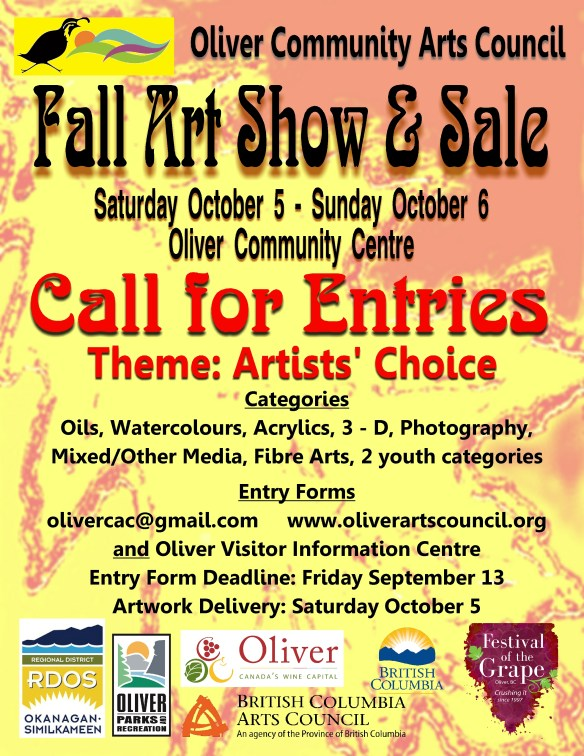 Call for Artists! | Oliver Community Arts Council