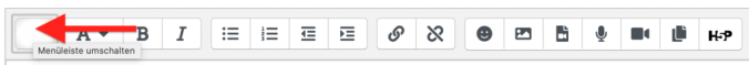 Make the second row visible by clicking the very left icon