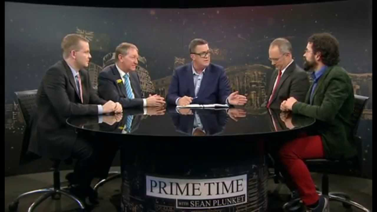 Dr Oliver Hartwich, Hon Nick Smith MP, Sean Plunket, Phil Twyford MP, Geoff Simmons (August 2014)