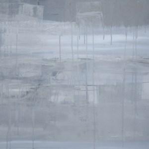 Grey in between, abstract art piece