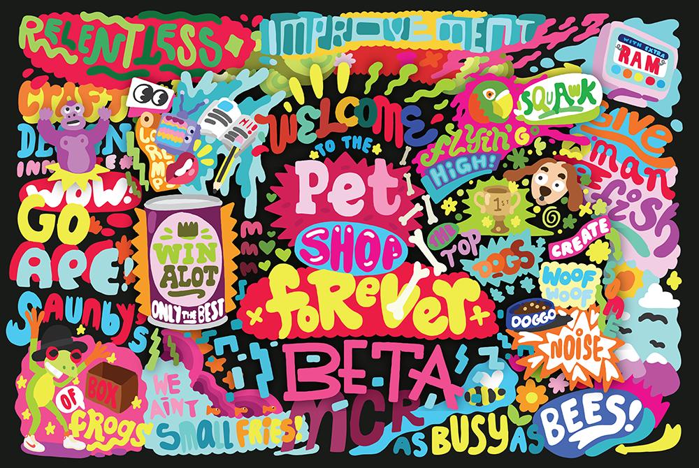 Forever Beta Interior Design illustration