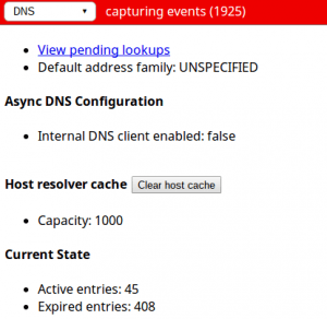Press the magic button to clear the DNS cache records