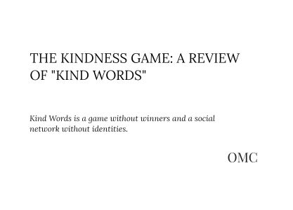 "The Kindness Game: A Review of ""Kind Words"""